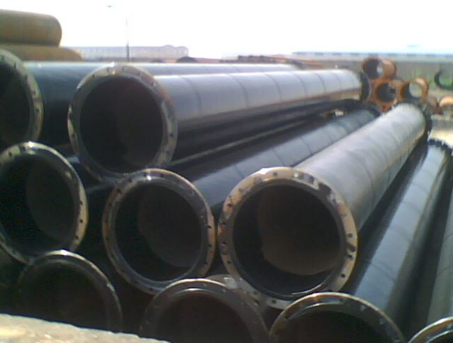FLANGED SSAW pipe for piling work or dredging service
