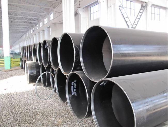 LSAW piling pipe with reinforcement ring