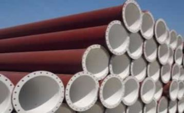 The Netherlands Flange Steel Pipe for Dredging Project
